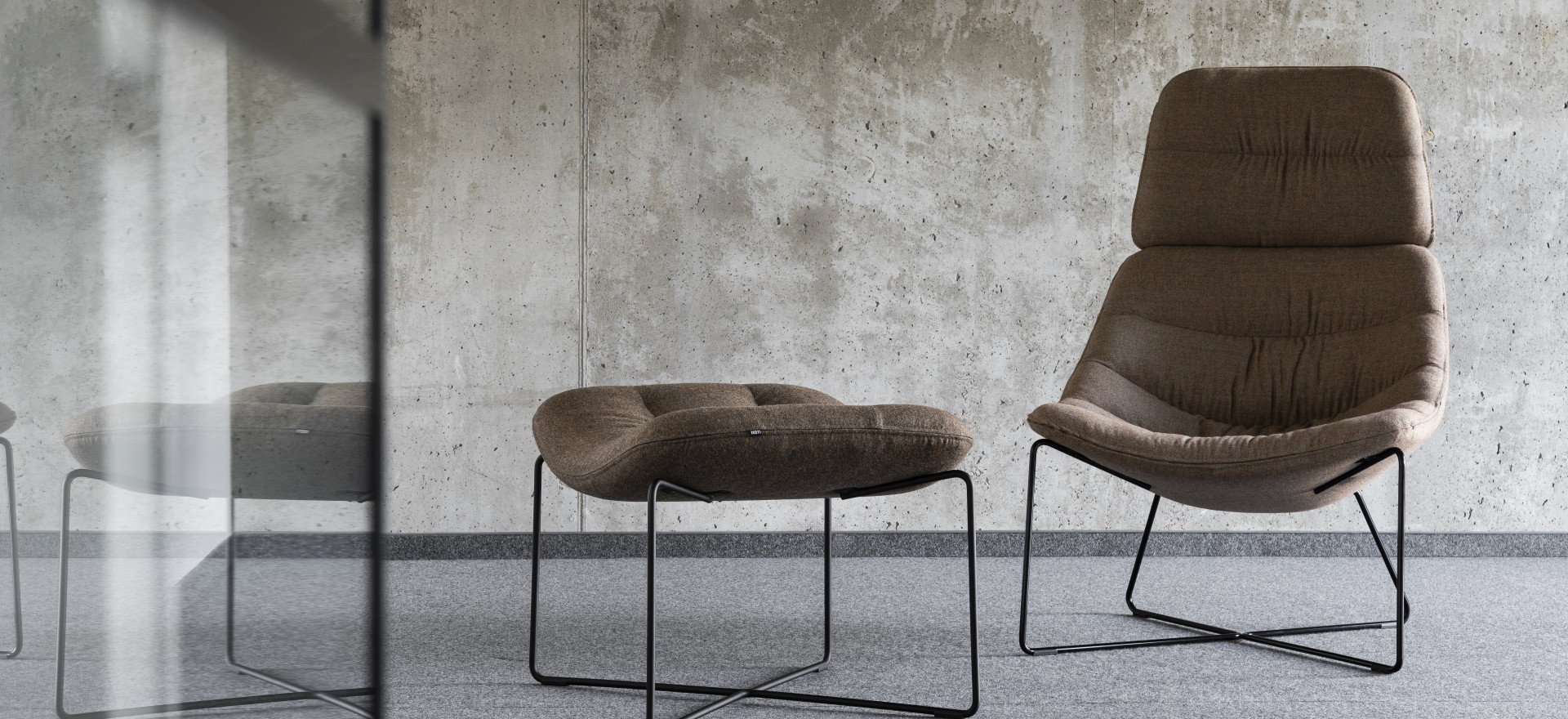mishell soft armchair footrest