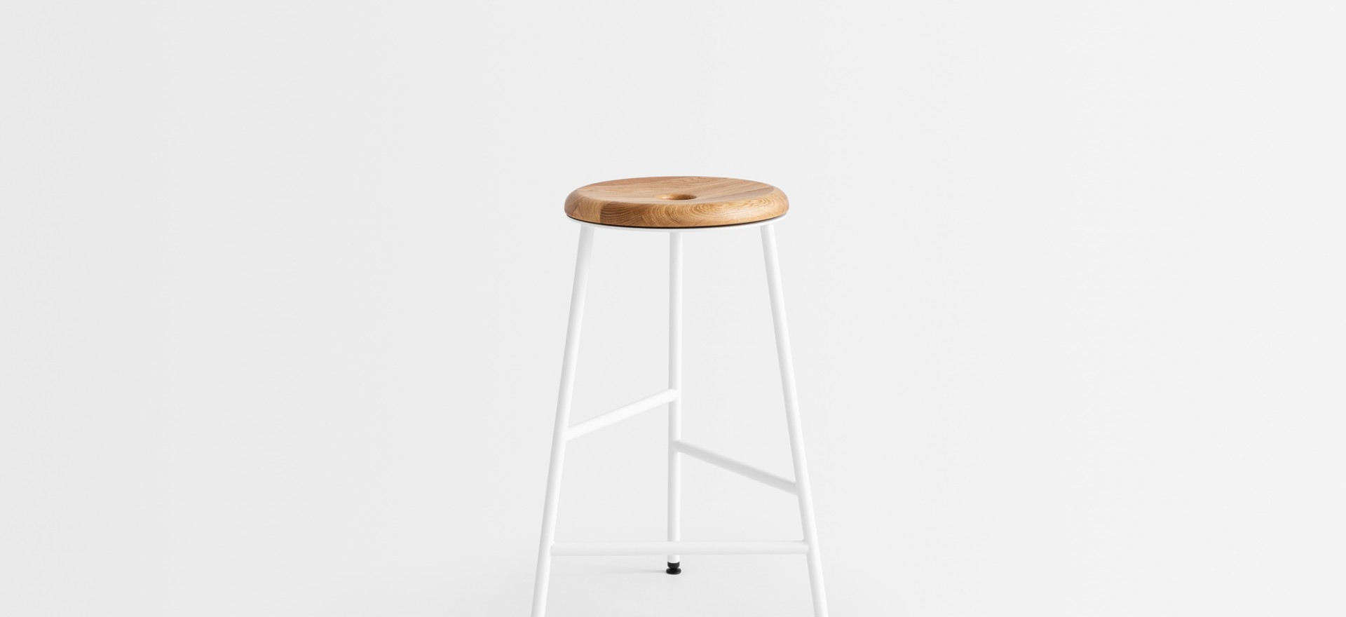 rotor white wooden seat