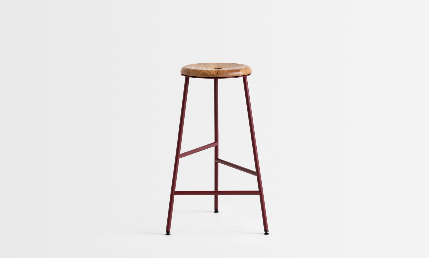 rotor red wooden seat